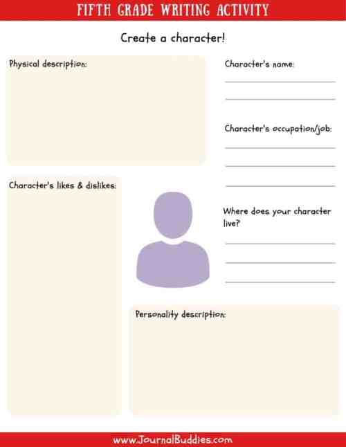 small resolution of Writing Worksheets for 5th Grade • JournalBuddies.com