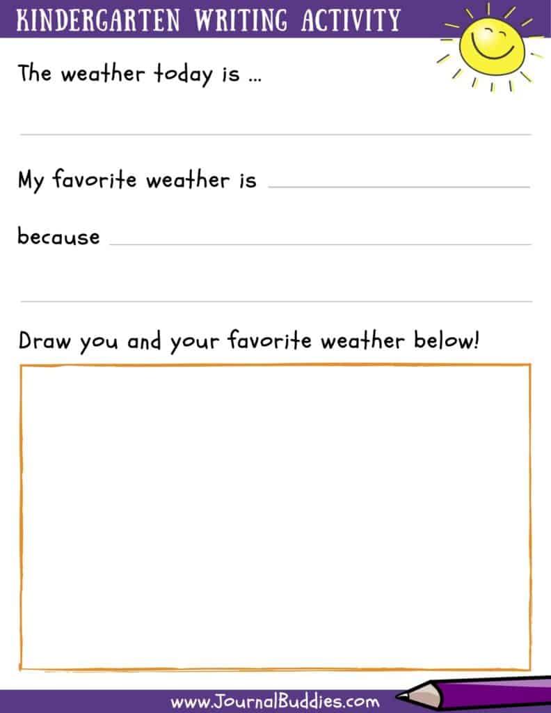 hight resolution of Writing Worksheets for Kindergarten • JournalBuddies.com