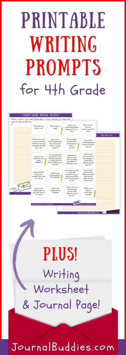 small resolution of Writing Worksheets for 4th Grade • JournalBuddies.com