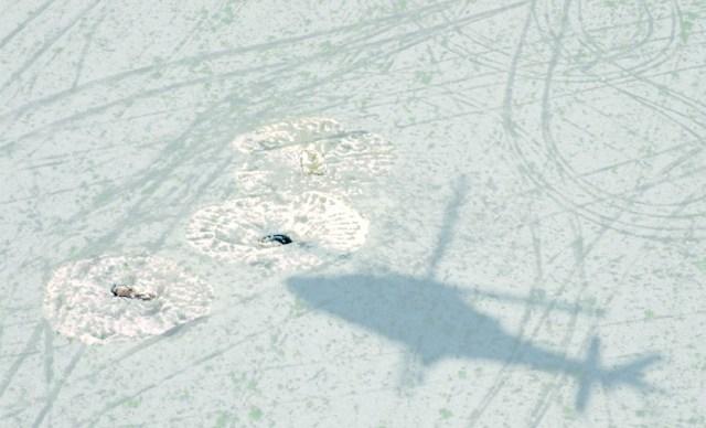 Elicottero del nucleo TPC dei carabinieri individua scavi clandestini ad Arpi FOTO M.Guaitoli