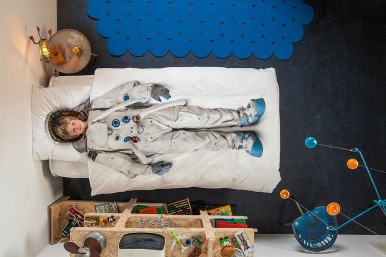 parure de lit cosmonaute