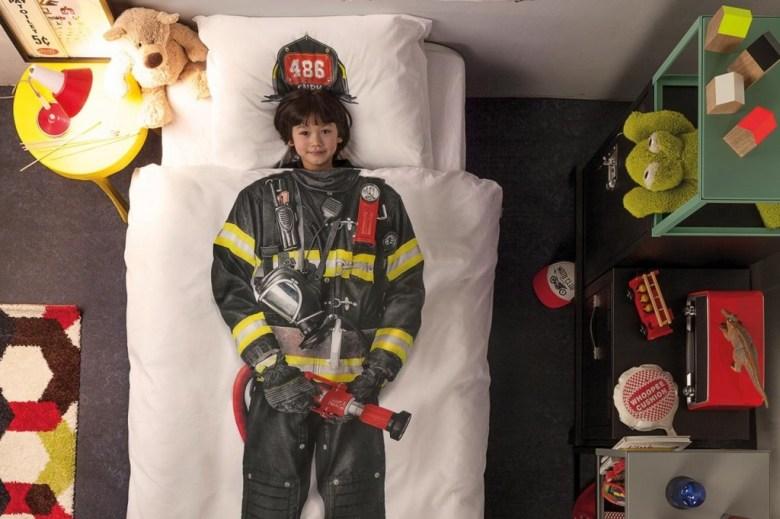 parure de lit pompier