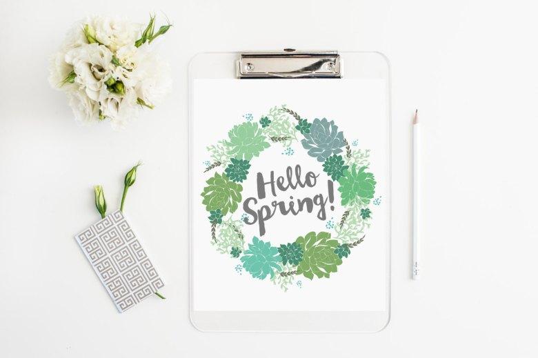 affiche hello spring