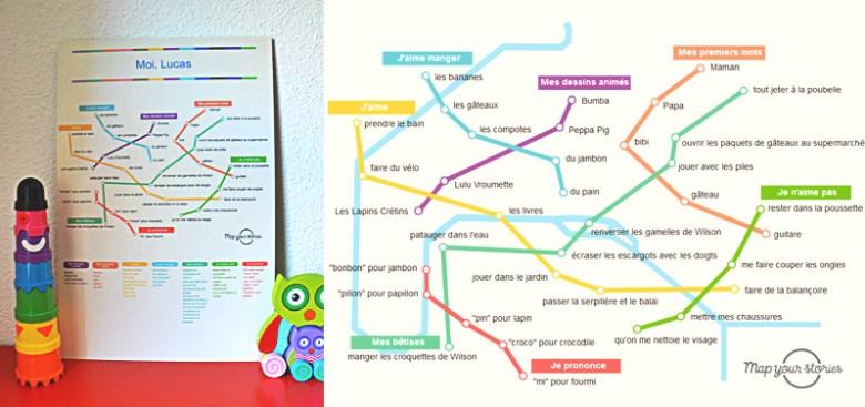 plan de métro personnalisé map your stories