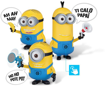 minions figurines electroniques