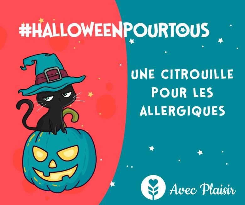 citrouille turquoise pour les enfants allergiques
