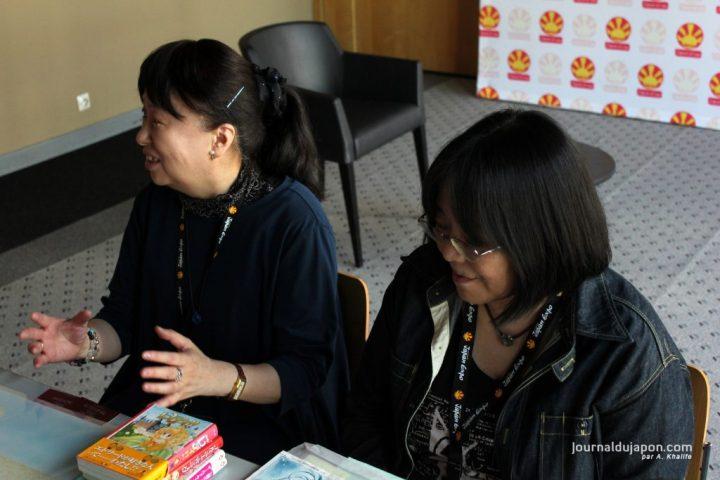 Yoko Hanabusa (à gauche) et Harumo Sanazaki (à droite)