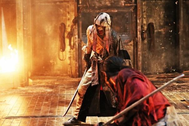Kenshin face à SHISHIO dans le grand final de la trilogie.
