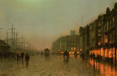 Liverpool from Wapping de John A. Grimshaw