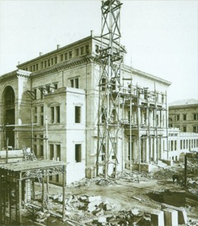 La villa Hügel en cours de construction, 1871