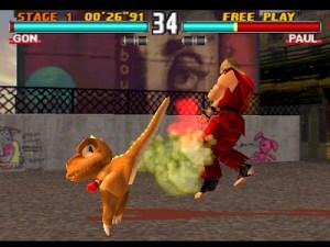 Gon attaque dans Tekken 3