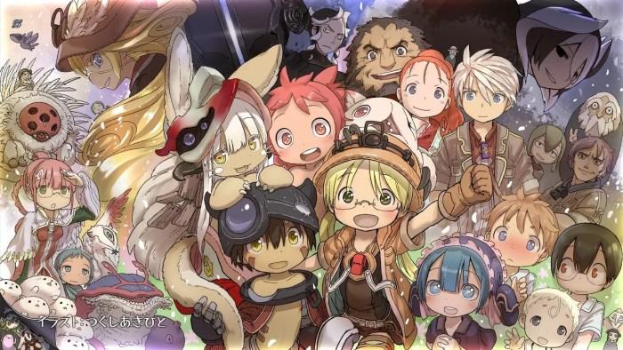 Tous les personnages de la série sur un même visuel dessiné par Akihito TSUKUSHI à l'occasion du dernier épisode ©Kinema citrus