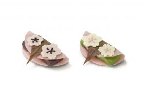 Les Sakura Mochi confectionnés lors du salon du chocolat de Paris 2017 © Mary's Co.,Ltd