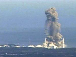 L'une des trois explosions du site de Fukushima