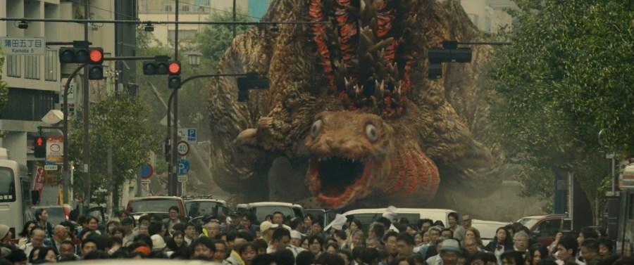 1ère apparition de Godzilla sur la terre ferme