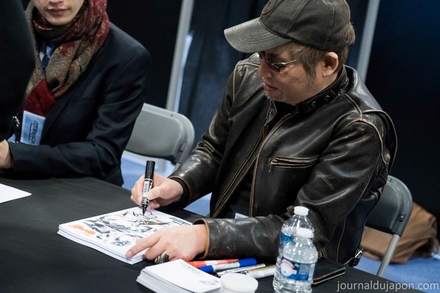 Junichi HAYAMA en dédicace à Paris Manga - Photo Aude Boyer