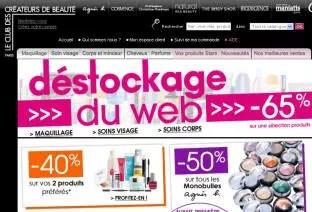 la homepage du club des créateurs de beauté : ccbparis.fr