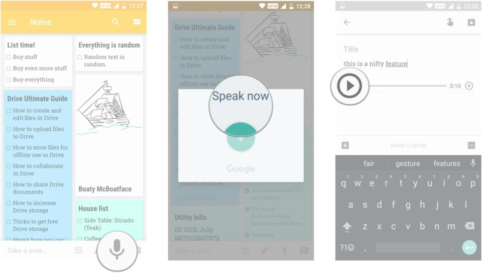 Audio Journaling with Google Keep