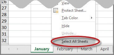 Microsoft Excel Printing All Sheets