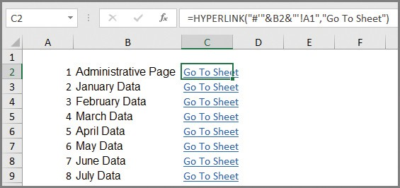 Microsoft Excel Create An Automated List Of Worksheet Names