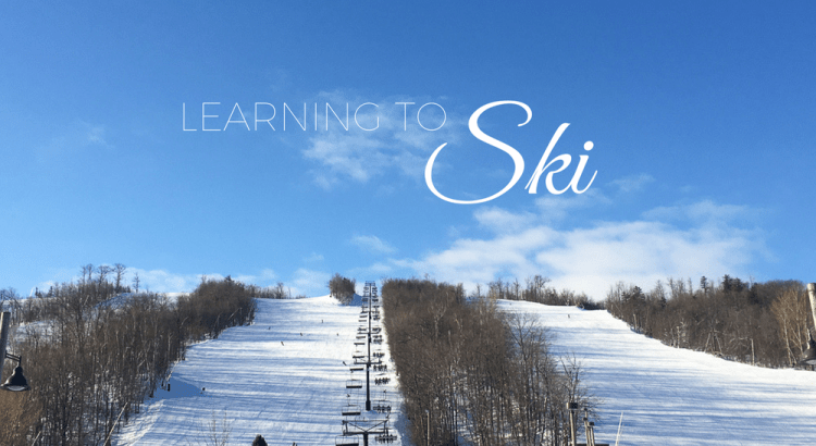 Learning to ski - Blue Mountain