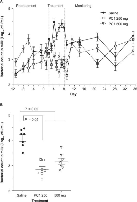 Experimental treatment of Staphylococcus aureus bovine