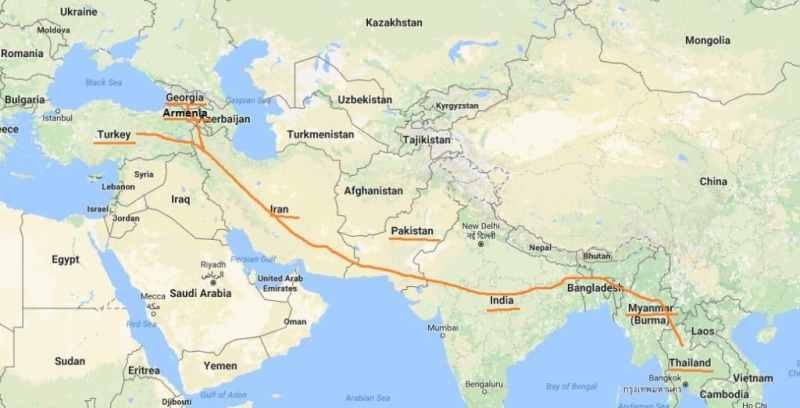 Map Of Asia 800 Ad.How To Travel From Europe To Asia By Land Journal Of Nomads