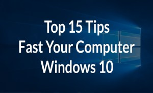How To Speed Up Computer Windows 10