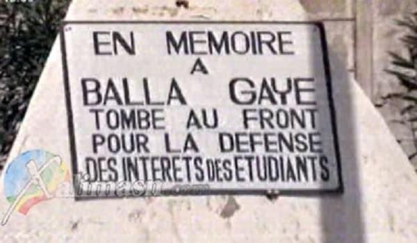 mort de Balla GAYE