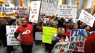 Manifestations d'enseignants