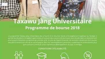 bourse Taxawu Jàng Universitaire