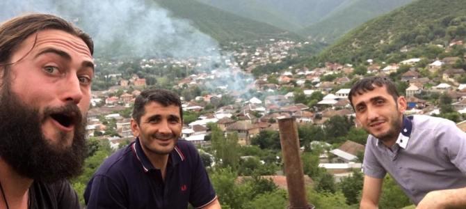 Cooking Tea in Sheki, Azerbaijan