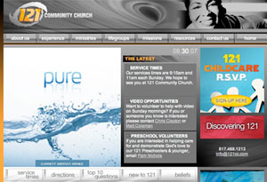 121 Community Church homepage
