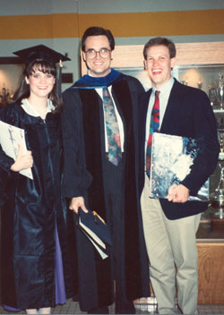Carolyn, Scott Duvall, and me at her graduation