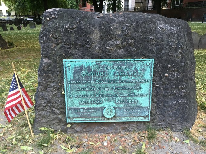 Granary Burying Ground, Sam Adams Gravestone