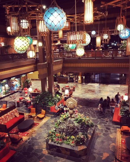 Disney World, Orlando, Florida, The Polynesian Resort