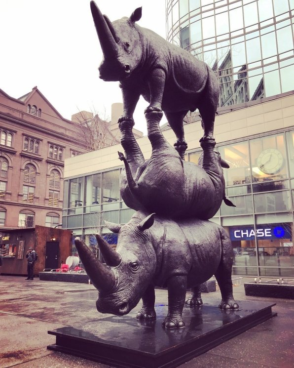 Say Goodbye to Rhinos, Astor Place, NYC