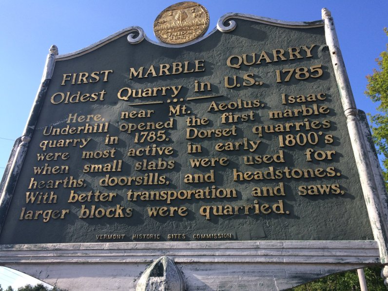 First Marble Quarry Sign