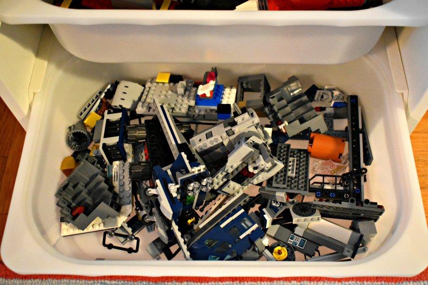 LEGOs in bin