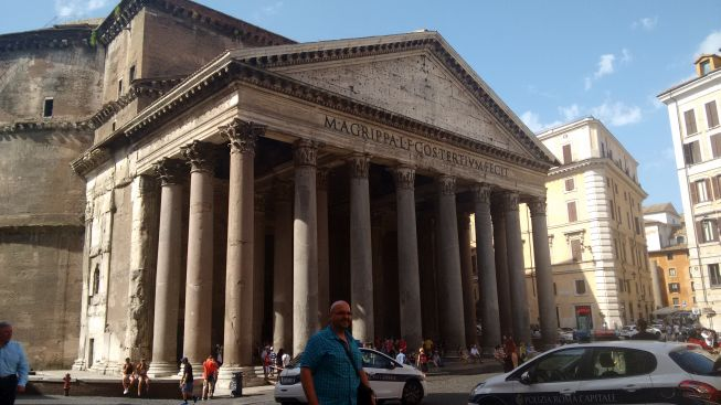 the Pantheon at rome was beautiful