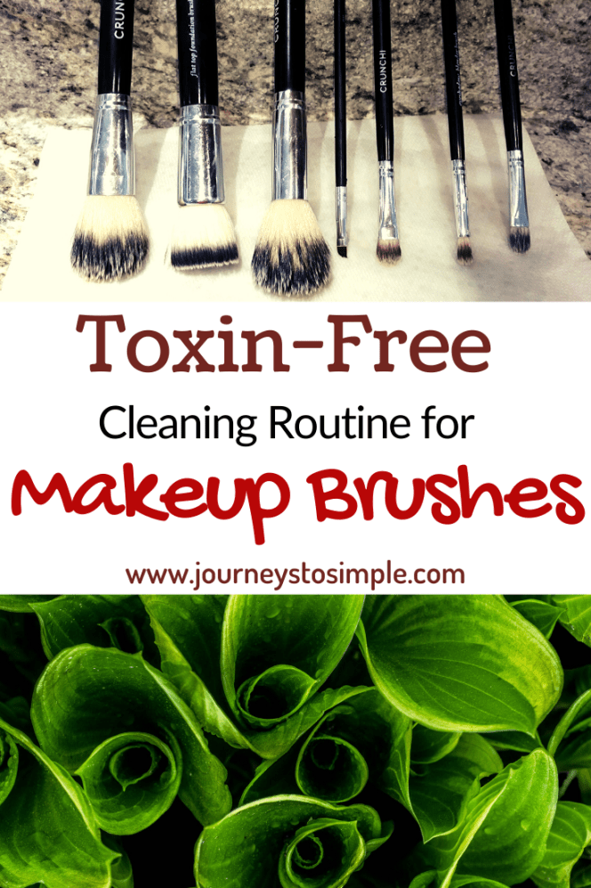 How to properly clean your makeup brushes naturally without using harsh, toxic chemicals. This is the best way to clean makeup brushes with dish soap.