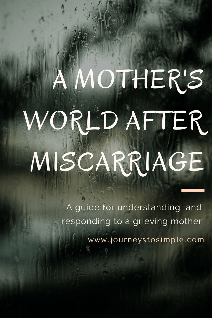 A Mother's World After Miscarriage: A Guide For Understanding and Responding To A Grieving Mother