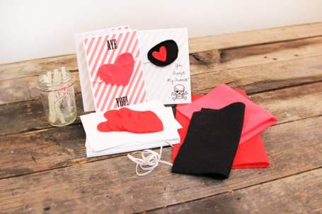 Pirate patches as non-candy Valentine's ideas for kids