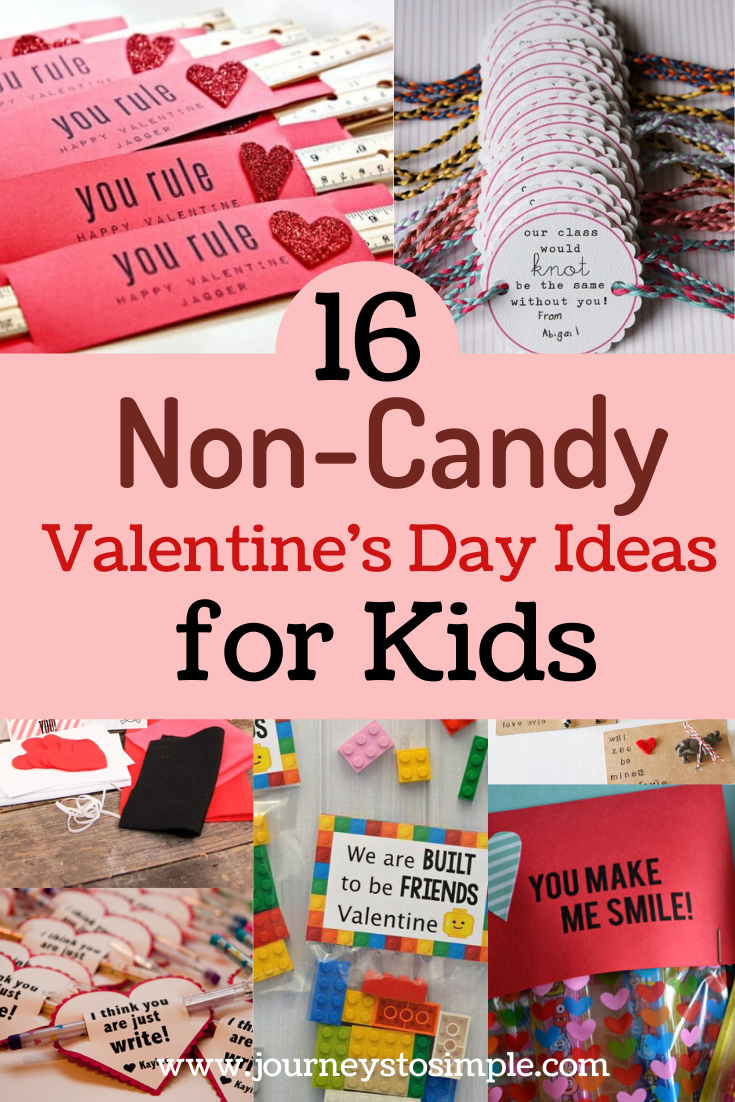 These non-candy Valentine\'s Day ideas for kids will help you have a sugar-free, clutter-free holiday! Ditch the sugar for eco-friendly Valentine\'s gifts and DIY Valentine\'s cards both kids and parents will love. #candyfreevalentines #ecofriendlyideas #clutterfree #diyprojects #schoolgifts