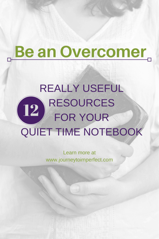 Are you looking for some great resources for your prayer or quiet time notebook? Find them here!