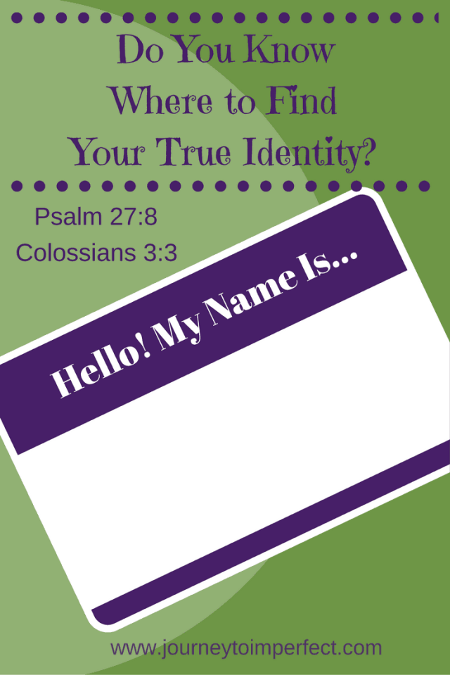 As women we often look to a lot of things in this life for our identity, but our true identity is hidden in a very special place. Do you know where to find it?