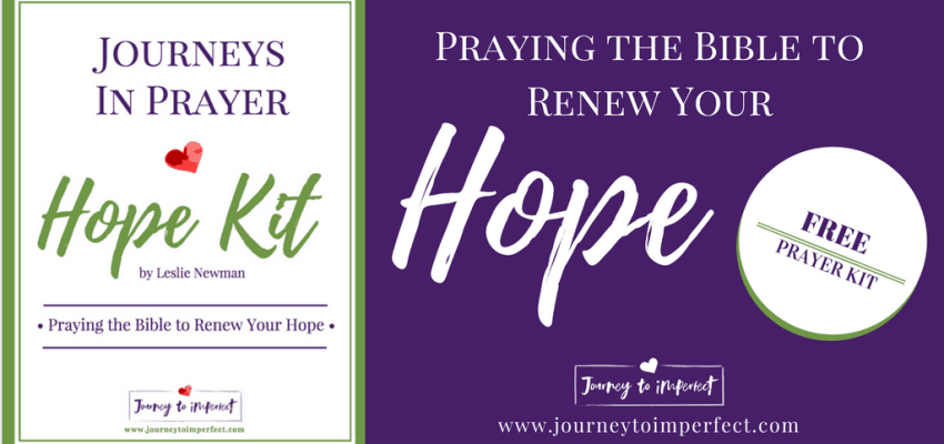 Free Prayer Kit! Pray 6 Bible verses to renew your hope. Study key words in each verse. Learn to write your own powerful prayers using the verses you are studying as a framework.