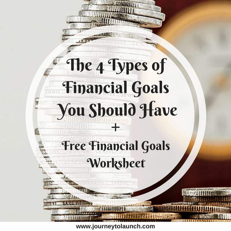 The 4 Types of Financial Goals You Should Have + Free Financial Goals Worksheet