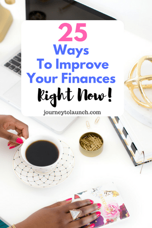 25 Ways To Improve Your Finances