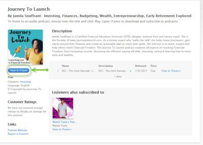 Journey To Launch Podcast on iTunes